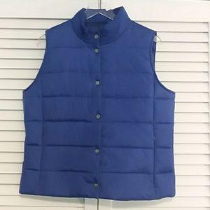 Blue Purple Daisy Fuentes Moda puffer vest